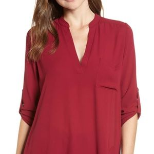 NORDSTROM BP - LUSH Tunic Red Size S